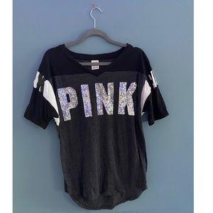 PINK Victoria's Secret; Grey T-Shirt